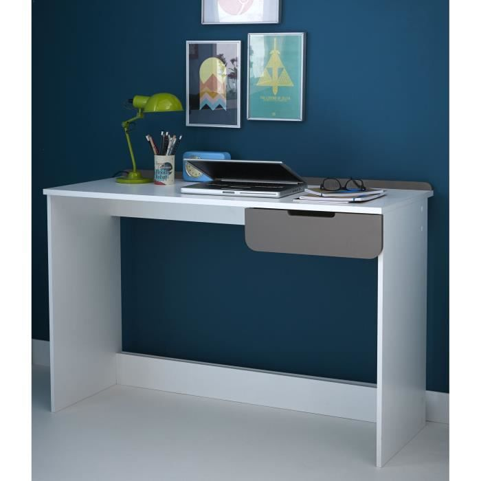 sacha bureau 1 tiroir blanc achat vente bureau sacha. Black Bedroom Furniture Sets. Home Design Ideas