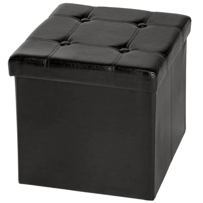 tabouret banc pouf coffre de rangement cube pliable. Black Bedroom Furniture Sets. Home Design Ideas