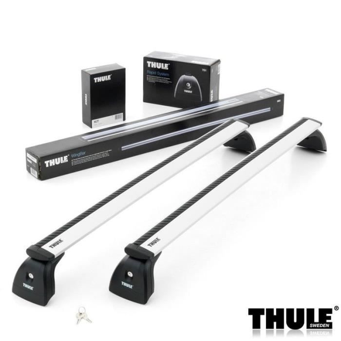 barres de toit thule wingbar 969 pour volkswagen california t5 van 4 portes de 2003 2009. Black Bedroom Furniture Sets. Home Design Ideas