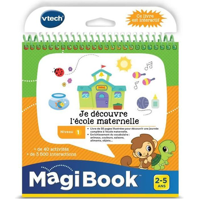Vtech Livre Interactif Magibook Je Decouvre L Ecole Maternelle