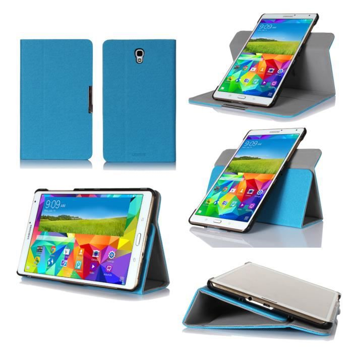 housse coque samsung galaxy tab s 10 5 bleu etui achat. Black Bedroom Furniture Sets. Home Design Ideas