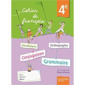 Cahier De Francais 4e Achat Vente Livre Chantal