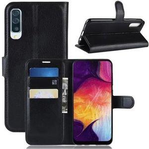 HOUSSE - ÉTUI Coque Samsung Galaxy A50 - Nouveau PU Cuir Portefe
