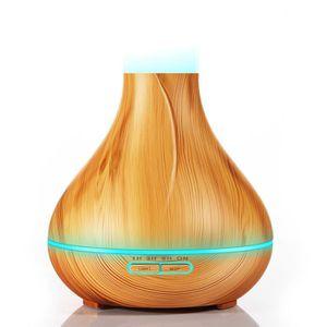 400ml Diffuseur dhuiles essentielles aromath/érapie ultrasonique humidificateur dair grain de bois diffuseur dar/ôme pour la maison spa b/éb/é chambre pour enfants T/él/écommande Blanche bureau