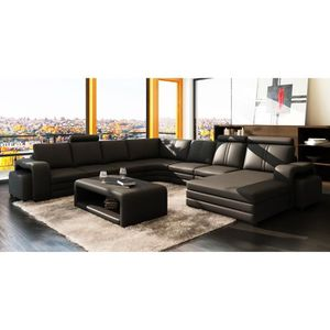 canap d angle cuir achat vente canap d angle cuir. Black Bedroom Furniture Sets. Home Design Ideas