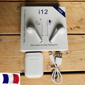 KIT BLUETOOTH TÉLÉPHONE AIR POD i12 TWS Mini Bluetooth 5.0 Casque Sport St