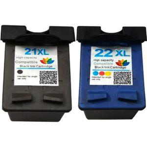 CARTOUCHE IMPRIMANTE 2PK pour HP 21 22 Cartouches d'encre pour HP21 22