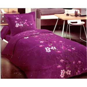 parure de lit violet achat vente parure de lit violet. Black Bedroom Furniture Sets. Home Design Ideas