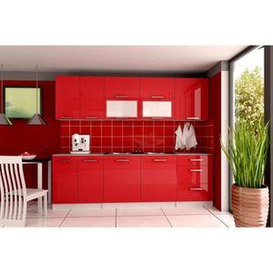 CUISINE COMPLÈTE SERENA Rouge - Cuisine complète 260 cm