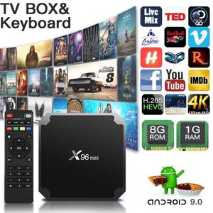 BOX MULTIMEDIA QQ X96Mini Décodeur Stream Tv Box Android 9.0 Avec