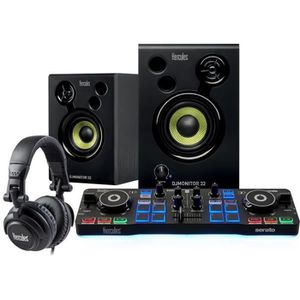 PLATINE DJ HERCULES DJSTARTER KIT - Table mixage Starter kit
