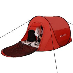 TENTE DE CAMPING Tente de Camping Pop-Up automatique rouge