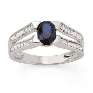 BAGUE - ANNEAU MONTE CARLO STAR Bague Or Blanc 375° Diamants 0,18