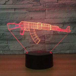 LAMPE A POSER 3D Lampe Illusion Optique LED Veilleuse Fusil Auto