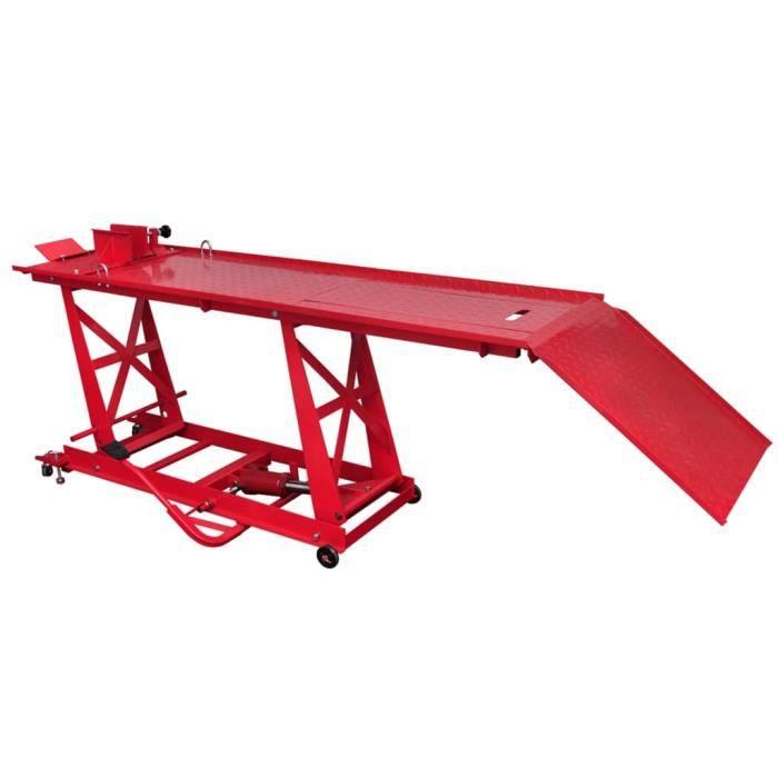 BOI® Pont élévateur plateforme hydraulique pour moto 450 kg