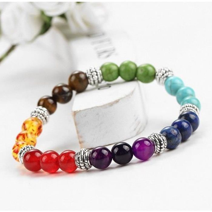 Bracelet - Gourmette - Jonc - Bracelet perle femme «Lucky charm»