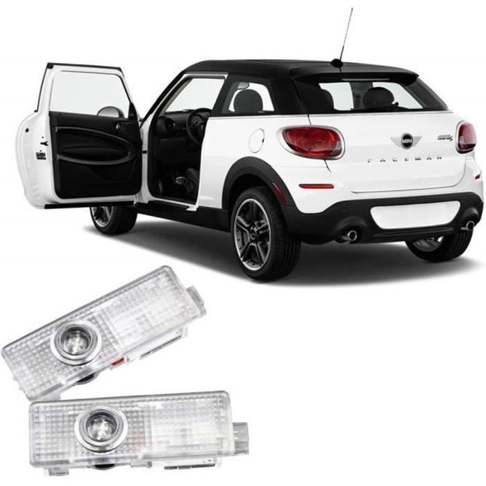 2 Pcs Porte Lumière Voiture Véhicule Fantôme LED Courtesy Bienvenue Logo Lumière Lampe Ombre Projecteur Pour Mini Cooper