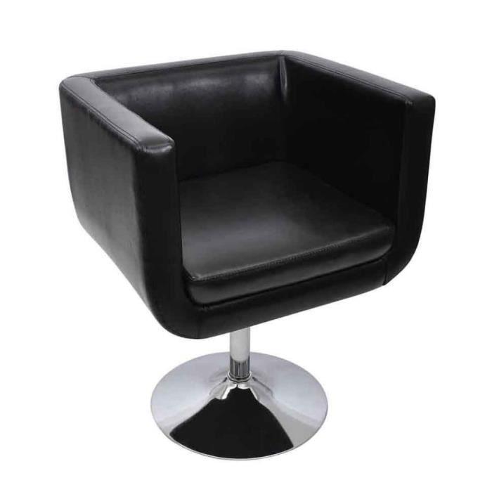 Magnifique Fauteuil Design Club Noir