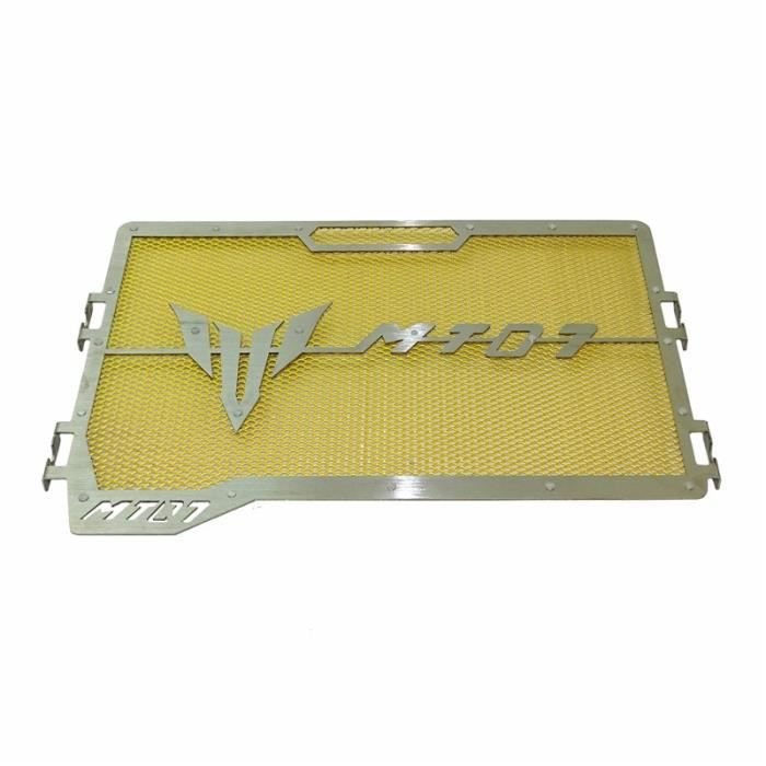 Mota Grille de Radiateur MT-07 Acier Inoxydable couleur Jaune Protection Pare Pierre 2014-2020 Accessoire Equipement