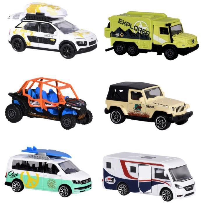 Dickie Majorette 212057601 Explorer Assortiment, Explorateur de véhicule, véhicule Miniature, 6 Versch. Modèles, Die-Cast – 7, 5