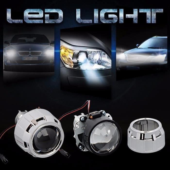 1pcs 2.5 - Phare Lentille Bi-xénon HID KIT Projecteur Droite Angels Eyes Auto H1 H4 H7 Bo51811