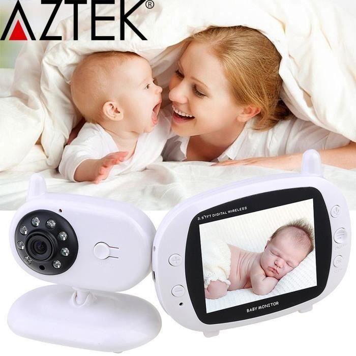 Babyphone vidéo numérique camera-bébé Sans fil Multifonctions