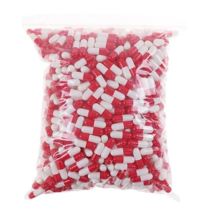1000 pièces-sac Capsule de gélatine vide Capsule de gélatine vide Capsule de gélatine dure Gel cachère clair pour le sto SD10188