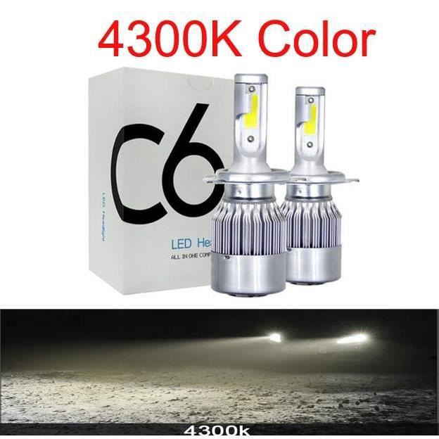 Couleur 4300K Emitting Socket H11 LED Turbo 72W Ampoules Pharès Voiture 8000LM Accessoires Auto De Led Anti