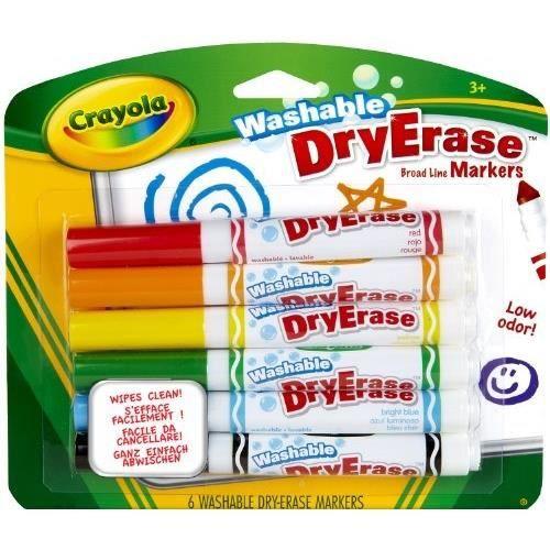 CRAYOLA DRY ERASE - 98-5807-E-000 - FEUTRE - 6 …