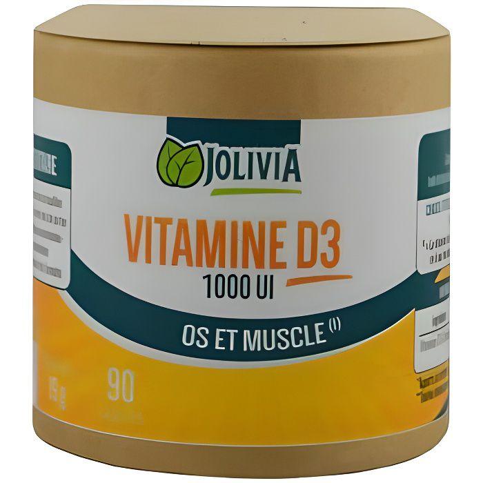 Vitamine D3 1000 UI 90 capsules - 0.1kg