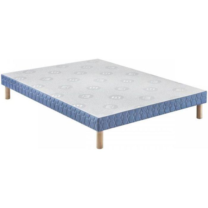 Sommier Merinos Confort Ferme 14 cm 120x190 Bleu