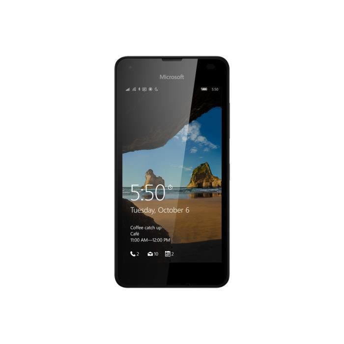 Microsoft Lumia 550 Smartphone 4G LTE 8 Go microSDXC slot GSM 4.7- 1 280 x 720 pixels (315 ppi) 5 MP (caméra avant de 2…