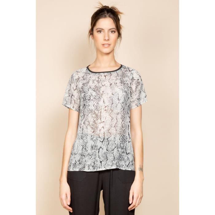 DEELUXE T-shirt imprimé python SOFIA Light Python