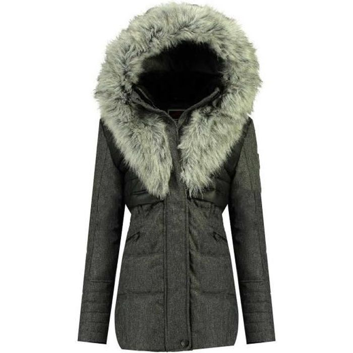 Parka Femme Geographical Norway Bunky 056 Noir