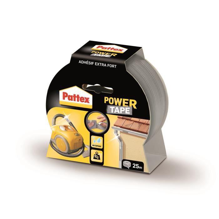 power tape adhésif gris 25 metres - PATTEX