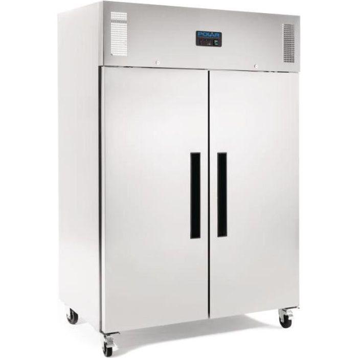 Armoire réfrigérée positive double porte 1200 Litres
