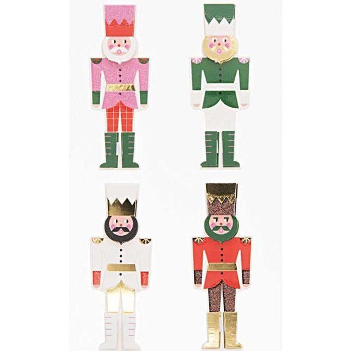 Stickers 3D Noël - Casse-noisettes - 4 pcs