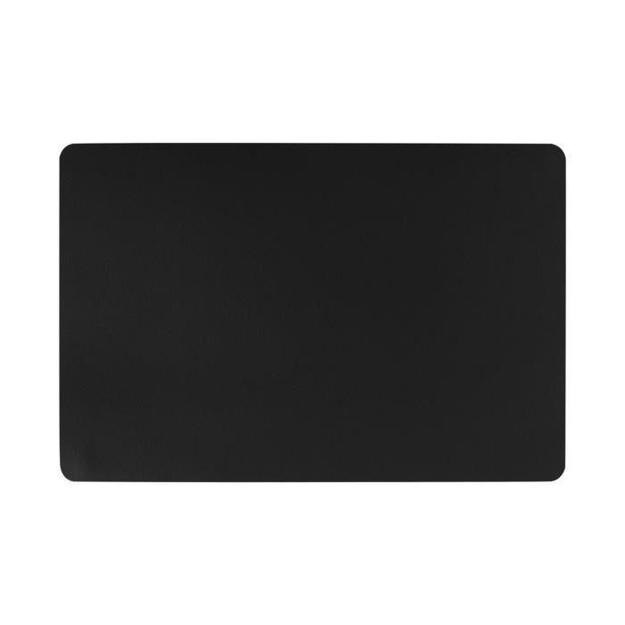 Secret de Gourmet - Set de Table Effet Cuir Noir 45 x 30 cm
