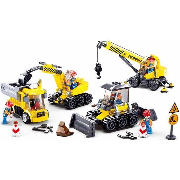 JEU DE CONSTRUCTION COMPATIBLE LEGO SLUBAN TOWN SET ENGINS CHANTIER M38-B0810 FIGURINES ARTICULES