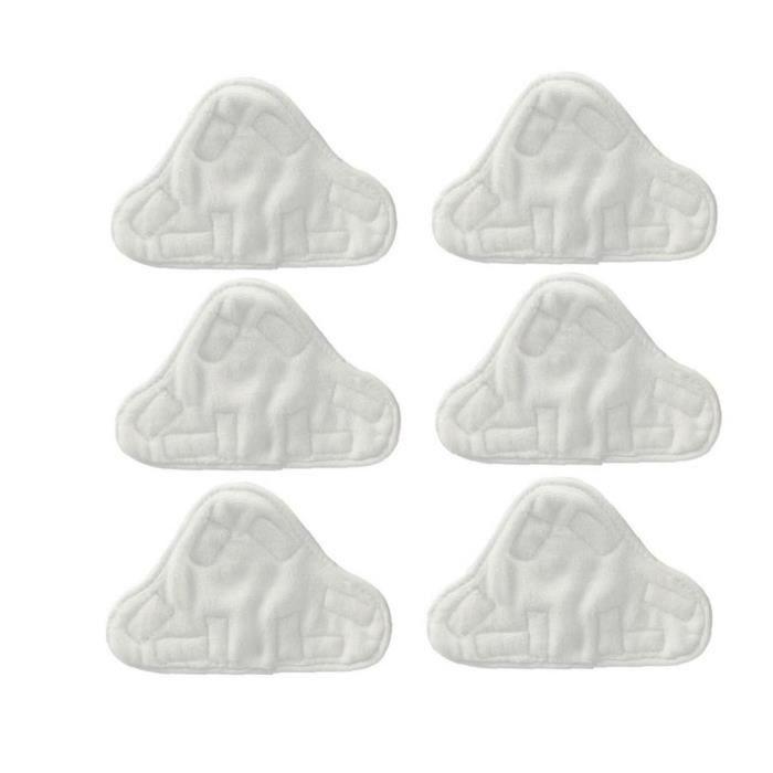 Tissu microfibre lavables Tapis adaptent Vax Bionaire Efbe-Schotte Montiss Delta vapeur Mops (pack de 6)
