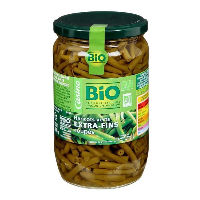 Haricots verts coupés bio - 72 cl
