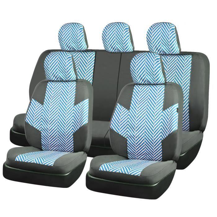 Vert et gris Housses de protection sièges voiture