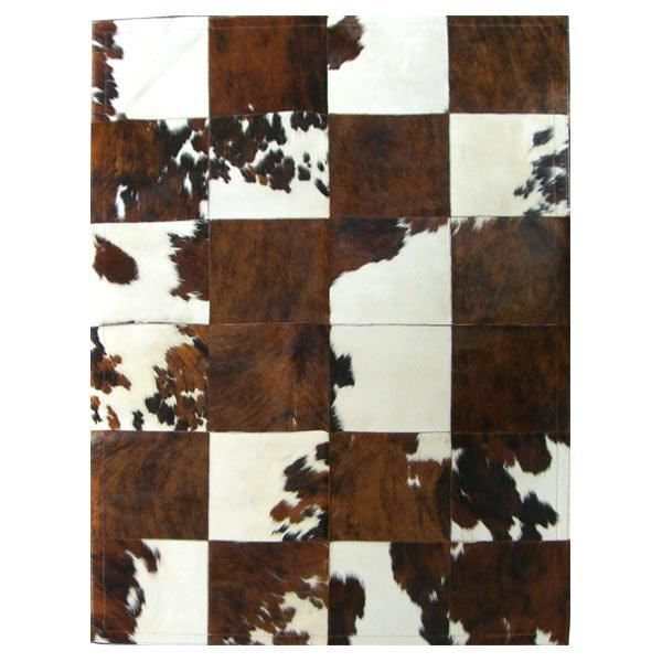tapis patchwork en peau de vache normande achat vente tapis cdiscount. Black Bedroom Furniture Sets. Home Design Ideas