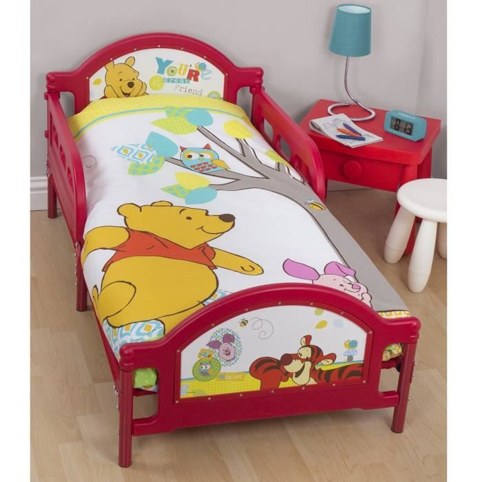 lit simple winnie l 39 ourson disney achat vente ensemble literie lit simple winnie l 39 ourson. Black Bedroom Furniture Sets. Home Design Ideas