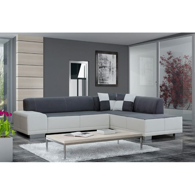 Canap d 39 angle 5 places fortuna angle droit achat vente canap sofa - Canape cuir 5 places droit ...