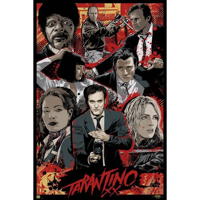poster tarantino achat vente pas cher. Black Bedroom Furniture Sets. Home Design Ideas