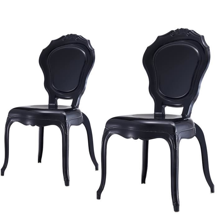 LOT DE 2 Chaises Polycarbonate