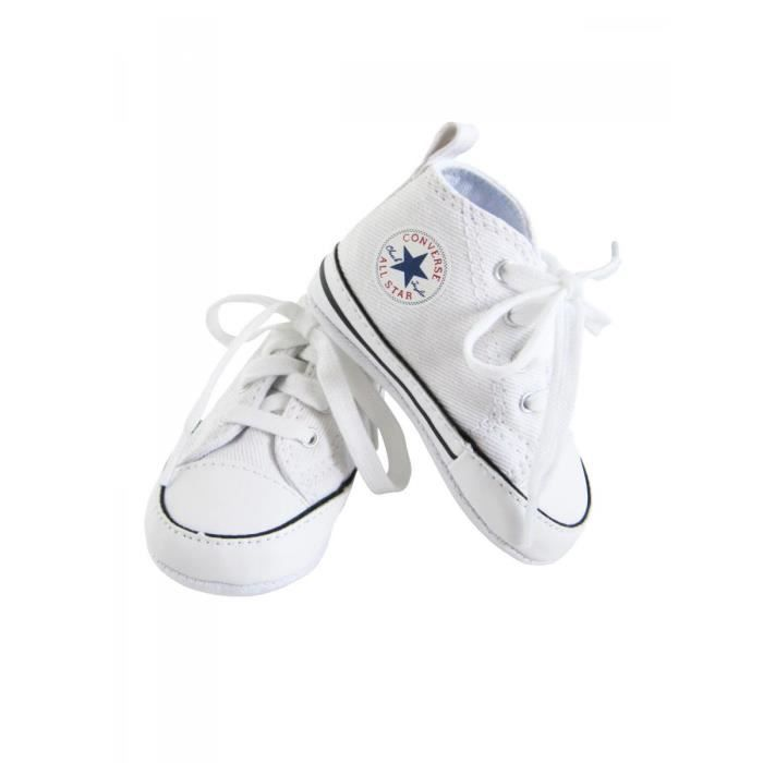 54b7804bab1b1 CONVERSE - Baskets All star toile blanc bébé fille Converse Blanc ...