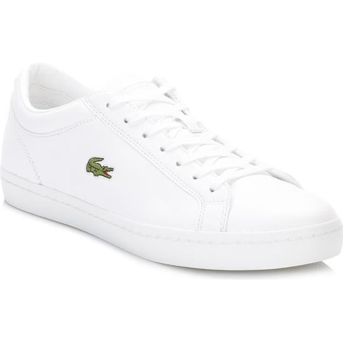 7f6a450c4f Lacoste femme White Straightset BL1 SPW Baskets-UK 5 Blanc Blanc ...