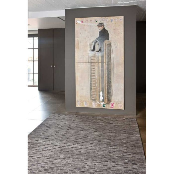 Tapis contemporain taupe diamond papilio 160x230 achat vente tapis tapis taupe diamond Beaux tapis contemporains